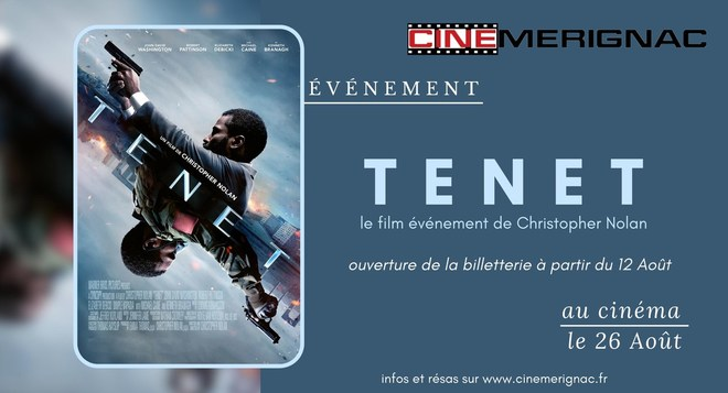 """PRÉVENTES sortie nationale""""Tenet"""""""