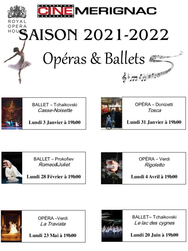SAISON OPÉRAS/BALLETS 2021-2022