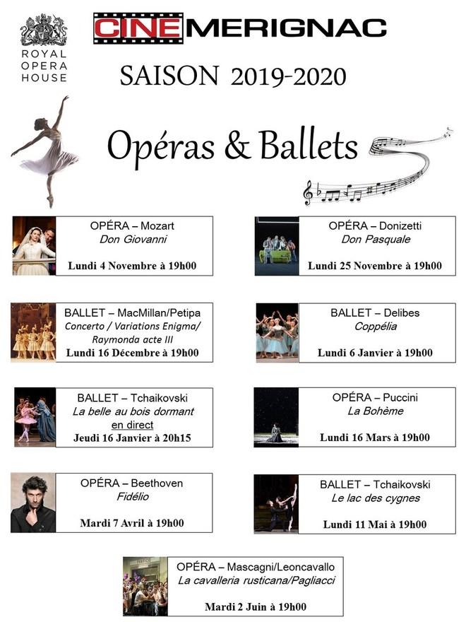 Saison Opéras&Ballets 2019-2020