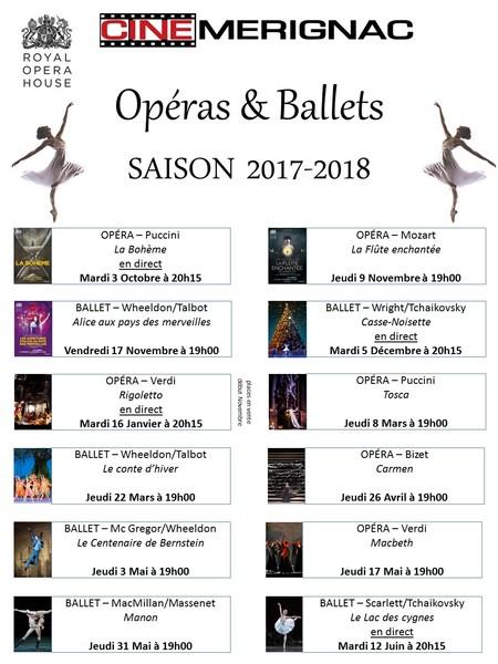 Saison Operas&Ballets 2017-2018