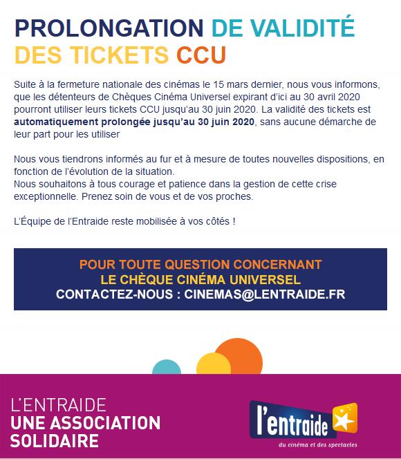 Prolongation CCU Entraide
