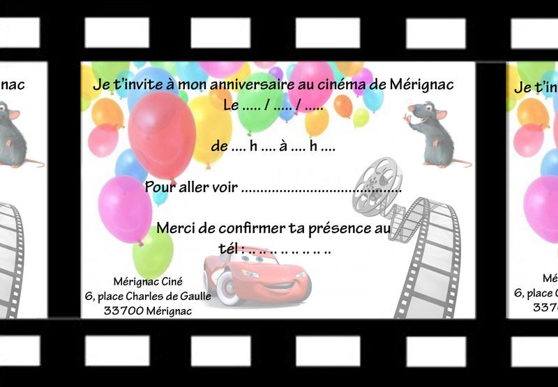 Top Fêter son anniversaire au Ciné Merignac AJ98